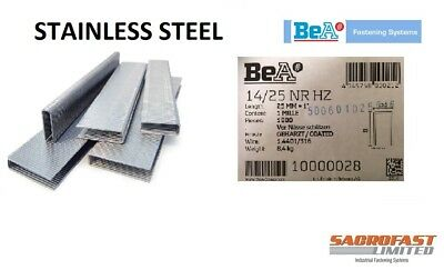 Stainless Steel 14 Type Staples Box 1,000 - 25mm • 41.85£