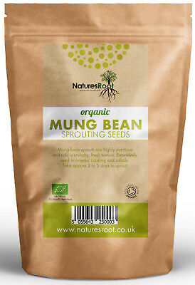 £13.99 • Buy Organic Mung Bean Sprouting Seeds - Superfood | Non GMO | Microgreen Sprouts