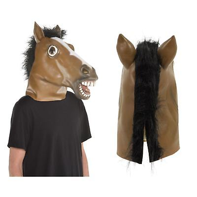 £15.32 • Buy Adults Full Head Latex Horse Mask Fancy Dress Animal Party Costume Accessory
