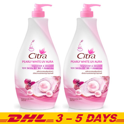 $ CDN39.12 • Buy Citra Pearly White UV Aura Body Lotion SPF20 Pearl & Mulberry Essence: 590ml X 2