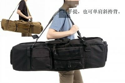 $52.32 • Buy 100cm Tactical Hunting Luggage Photo Fishing Double Deck Gun Bag Pouch For M249