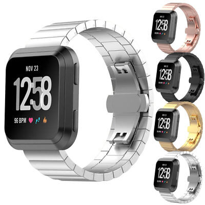 $ CDN32.65 • Buy StrapsCo Stainless Steel Metal Link Watch Band Strap For Fitbit Versa / 2 / Lite