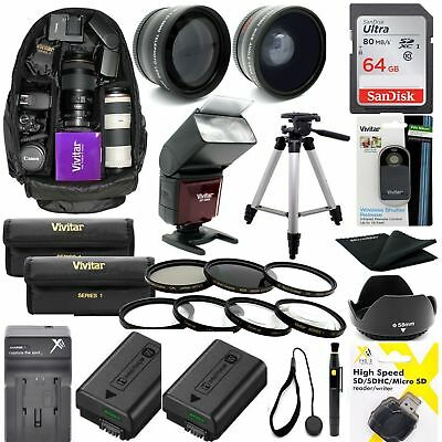 AU244.04 • Buy Sony Alpha A6300 1080p 8k Hd 64gb Accessories Kit Lenses Filters Backpack Flash