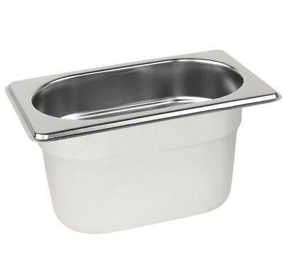 £3.95 • Buy Stainless Steel 1/9 Size Gastronorm Pan Bain Marie Pot Choose Depth