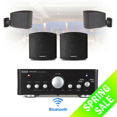 Speaker And Amplifier Home HiFi AUX Stereo Bluetooth Music Sound System (Pair) • 165£