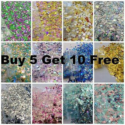 £1.69 • Buy Festival Glitter Chunky Mixed Face Eye Cosmetic L@@K BIG BAGS BUY 5 GET 10 FREE