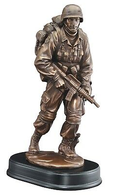 $39.99 • Buy Patrol Soldier Statue Trophy Customize US Military 13  Tall . Free Engraving.