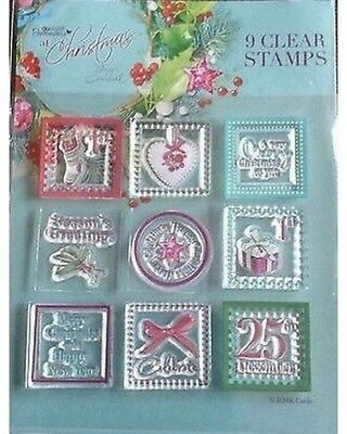 Bargain Lucy Cromwell 9 Christmas Clear Stamps For Cards And Crafts • 1.25£