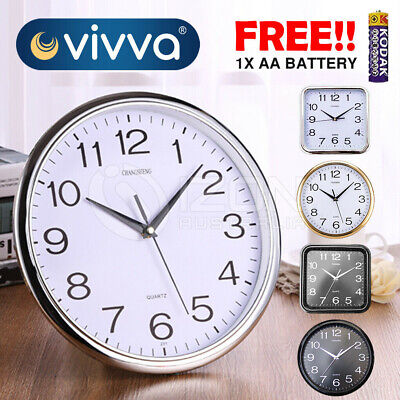 AU17.24 • Buy Wall Clock Quartz Round Wall Clock Silent Non Ticking Battery Operated 12 Inch