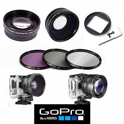 $ CDN58.80 • Buy Gopro Hero7 Silver Wide Angle Lens+macro Lens +telephoto Zoom Lens + Filter Kit