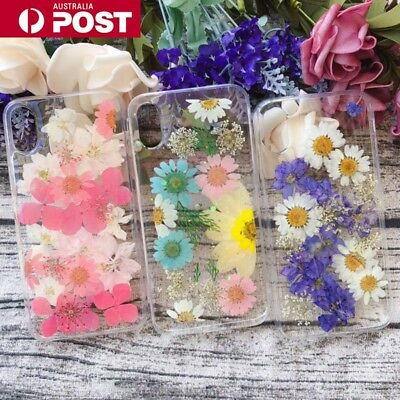 AU10.95 • Buy Pressed Flowers Dried Real Soft Case Cover For IPhone 6/s/7/8/Plus/X/XS/XR/MAX