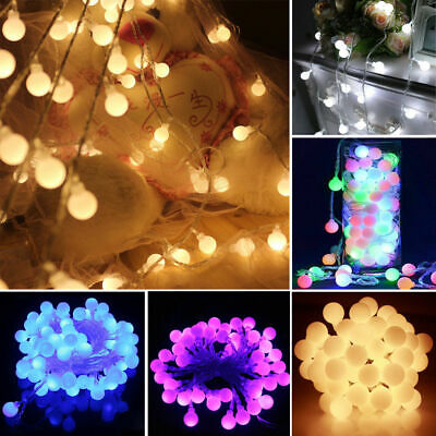 Berry Christmas Lights Led Xmas Ball Shape Round Fairy Timer/memory 100/200/500 • 12.99£