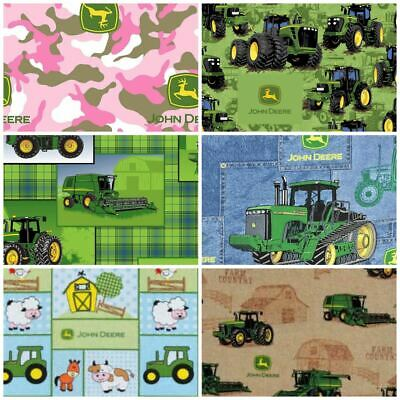 AU6.75 • Buy Multiple Sewing Quilting Fabrics Tractors JOHN DEERE Dirt Tract NEW FQ A