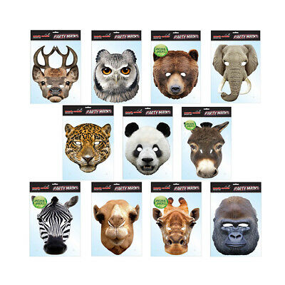 Fancy Dress Animal Party Masks Hen Stag Fun Celebration Birthday Parties Mask • 3.98£