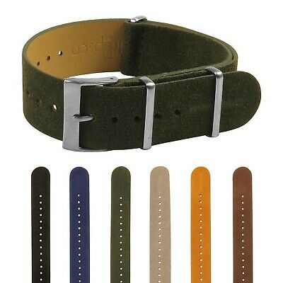 $19.99 • Buy StrapsCo Suede Vintage Style Leather Band Military Wrap Around Watch Strap