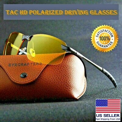 AU13.90 • Buy Tac Polarized HD Day Night Vision Glasses Aviator Men Driving Sports Sunglasses