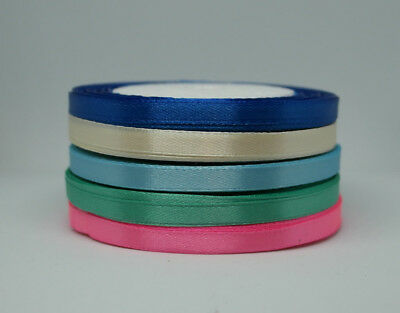 £2.08 • Buy 25 Metres Quality Tying Double Sided Satin Ribbon Roll 6 Mm To 25 Mm Ribbons