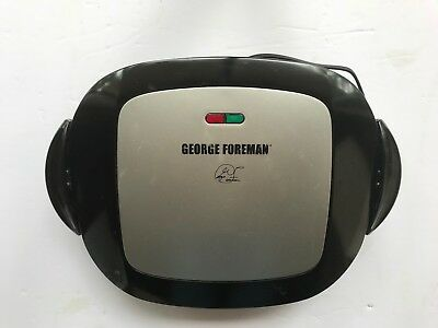 George Foreman GRP472P 5 Serv-Removable Plate Grill Panini Press Platinum Black • 26.83£