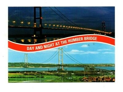 £2.99 • Buy Yorkshire - Day And Night At The Humber Bridge - Postcard