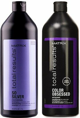 £43.72 • Buy Matrix Total Results So Silver Shampoo & Obssed Conditioner 33.8oz Duo Limited