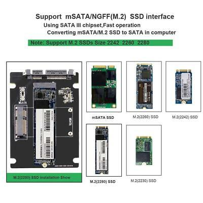 AU10.99 • Buy 2 In 1 MSATA To SATA NGFF M.2 To SATA3 Converter Adapter Card SSD Disk For PC