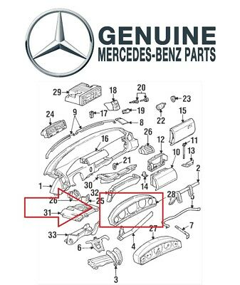 for instrument cluster housing panel frame genuine for mercedes r129 300sl  sl600 • 479 92$