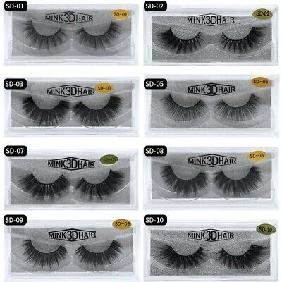 3D Mink False Eyelashe Wispy Cross Long Thick Soft Fake EyeLashes Extension Lash • 3.59£