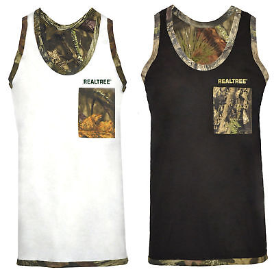 £4.99 • Buy Mens Jungle Army Camo Muscle Vest RealTree Sleeveless Gym Weightlifting Tank Top