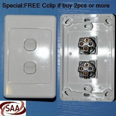 AU7.30 • Buy Double Dual Gang Power  Gloss Switch Light Electrical Switch Au Stand 10a