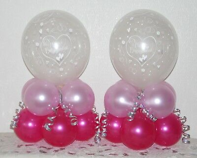 £4.99 • Buy HAPPY ENGAGEMENT  2 / 6 /12 Pack Table Balloon Decoration Display Kit - Party