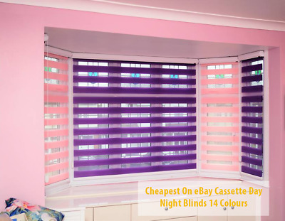 Made To Measure Premium Day And Night Cassette Zebra/Vision Window Roller Blinds • 58£