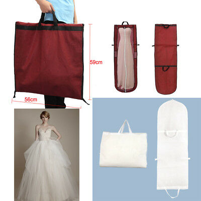 Long Dress Cover Storage Bag For Bridesmaid Bridal Wedding Gown Dress Carrier UK • 5.66£