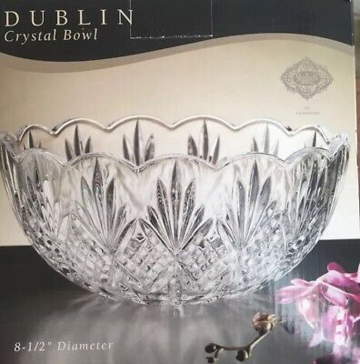 $35.99 • Buy DUBLIN CRYSTAL BOWL. SHANNON CRYSTAL BY GODRINGER - 8.5   DIAMETER (New Freeship