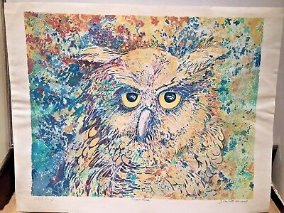 £77.08 • Buy Charlotte Sherman Limited Edition Signed Lithograph The Owl - Night Bird