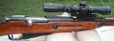 $262.58 • Buy Mosin Nagant 2-7x32 Long Eye Relief Scout Scope With M91/30 M44 Mount Combo
