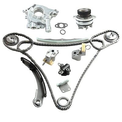 $99.95 • Buy Fit Nissan Quest Maxima Altima 3.5L Timing Chain Kit W/ Water+Oil Pump Polished