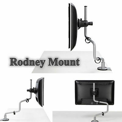 £19.95 • Buy New Rodney Desk Mounted Monitor Arm Silver TV LCD Computer Screen Bracket Hold