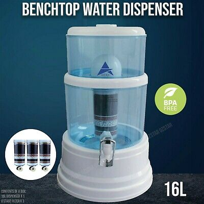 AU105 • Buy Aimex Water Dispenser Bench Top Purifier 8 Stage Water Filter 16L With 3 Filters
