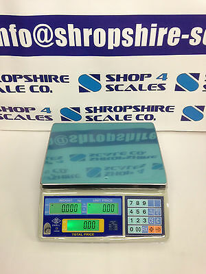 RETAIL SCALE 15kg SHOP SCALE BUTCHERS SCALE SWEET SCALE DELI SCALE EXCELL FD NEW • 165£