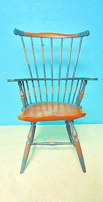 $21 • Buy Doll Bear Spindle Chair Wooden Medium Oak And Gray Finish Furniture Collect