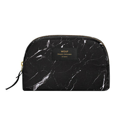 AU79.95 • Buy NEW Wouf Big Beauty Bag In Black Marble Print Women's By Until