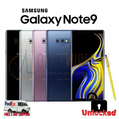 $ CDN608.15 • Buy Samsung Galaxy NOTE 9 128GB 512GB 🟣⚫⚪🔵 (SM-N960U1 Factory Unlocked GSM+CDMA)