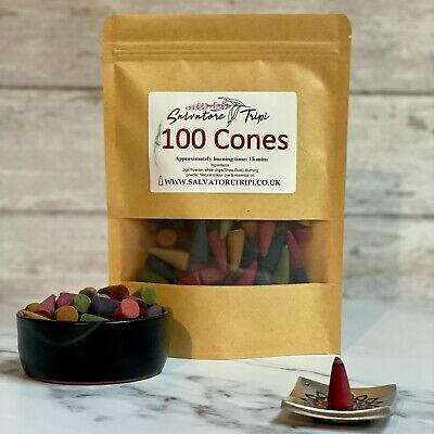 £4.99 • Buy 100s Incense CONES High Quality Scent Assorted Mixed Random Natural Made INDIA E