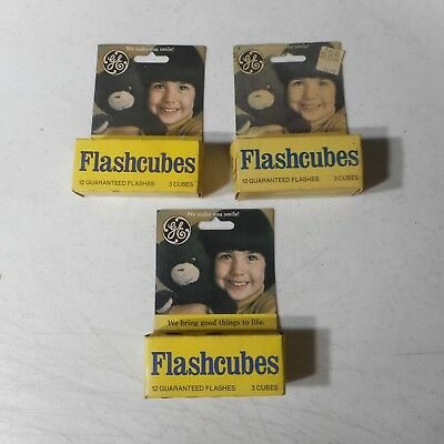 $12.95 • Buy GE Flashcubes 3 Cubes Pre Pack 12 Flashes Lot Of 3 Packs