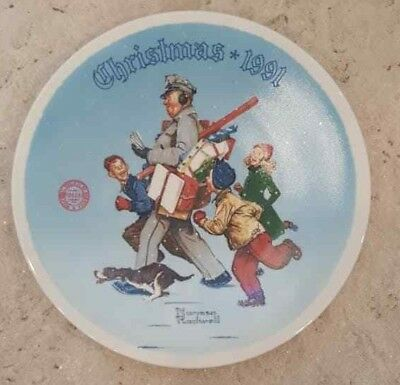 $ CDN19.98 • Buy THE NORMAN ROCKWELL MUSEUM --  SANTA'S HELPER  -- 1991-- Plate#8044B