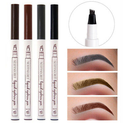 297c9336c44 Microblading Tattoo Eyebrow Ink Pen Eye Brow 4 Fork Pencil Brow Enhancer  Stencil • 0.97