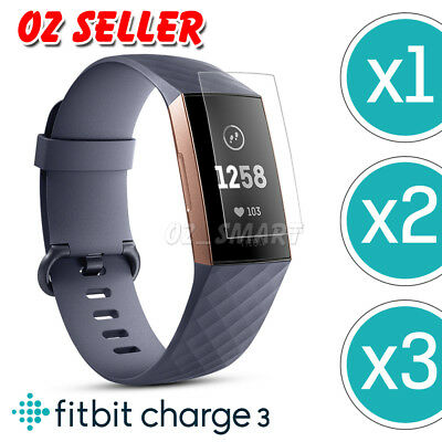 AU3.95 • Buy 1x/2x/3x For Fitbit Charge 3 Compact TPU Hardness LCD Screen Protector Real Film