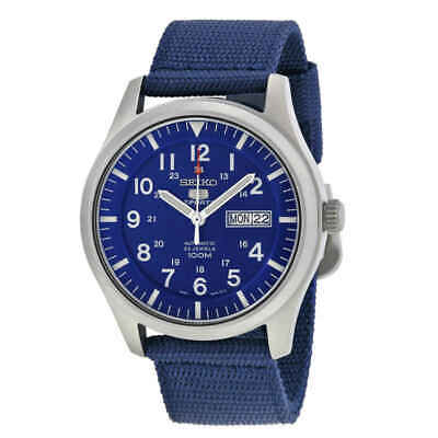 $ CDN145.17 • Buy Seiko 5 Sport Automatic Navy Blue Canvas Men's Watch SNZG11