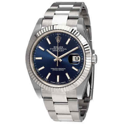 $ CDN15624.09 • Buy Rolex Oyster Perpetual Datejust 41 Blue Dial Automatic Men's Watch 126334BLSO