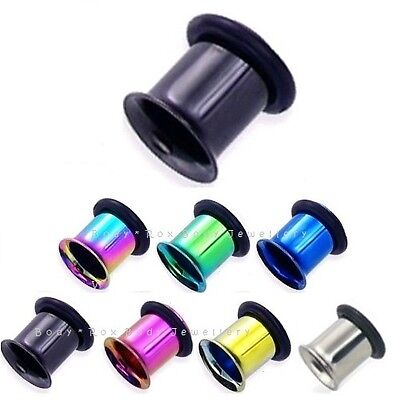 £3.25 • Buy Single Flare Flesh Tunnel, Anodised Surgical Steel, Ear Plug Stretcher Expander